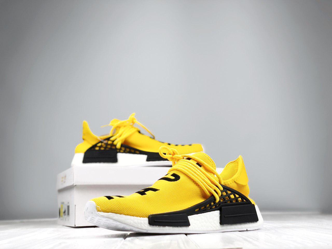 f9fa5655c9b97f Кроссовки Adidas NMD Pharrell Williams x 'Human Race' Yellow. B Живое фото  (Реплика ААА+)