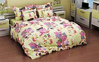 Полуторный детский комплект постельного белья из бязи 145х215 (1.0) «Свинка Пеппа и ее друзья»