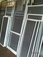 Москитная сетка на алюминиевые окна. Антимоскитная сетка с наружным креплением.