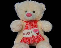 Подарок на День Святого Валентина милый плюшевый Медведь 58 см в шарфе мягкая игрушка
