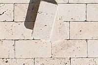 Травертин брусчатка, травертиновое мощение, на дорожки Tumbler плитка каменная размер 100х200х32 мм.