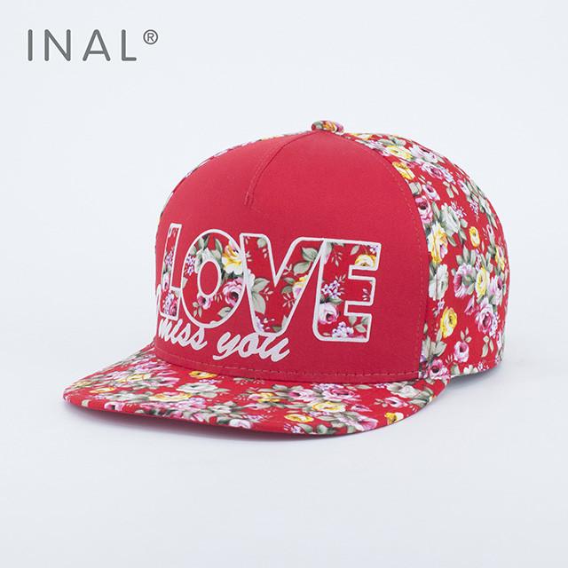 Кепка бейсболка INAL LOVE M / 55-56 RU Красный 176055