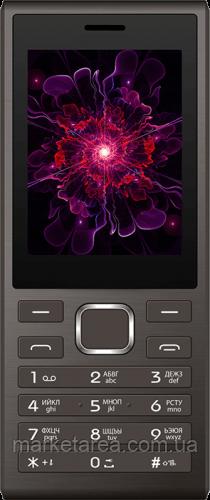 """Кнопочный телефон номи с интернетом и камерой 2мп Nomi i247 Grey (2SIM) 2,4"""""""