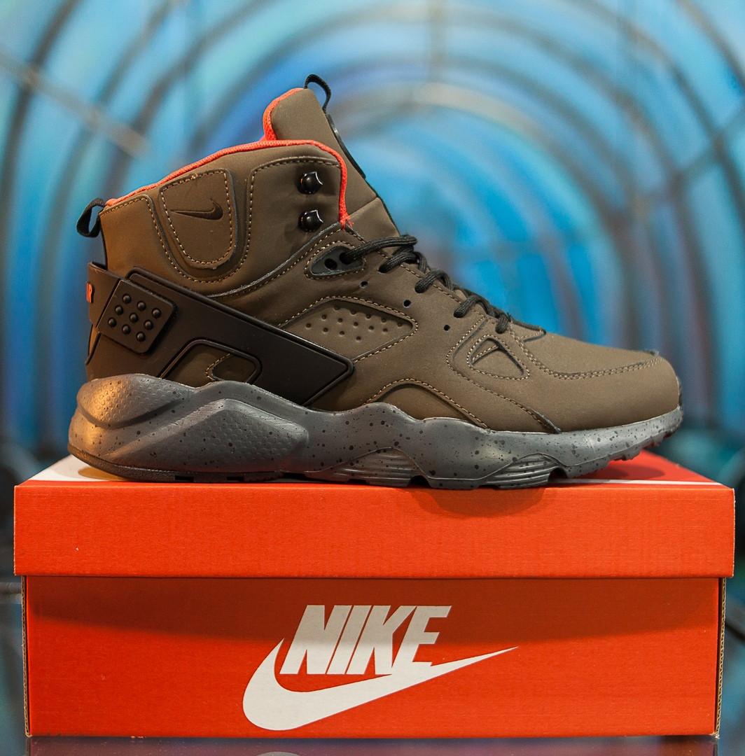 4f0191b6 Зимние кроссовки Nike Air Huarache haki (Реплика ААА+) - Интернет магазин  трендовой обуви