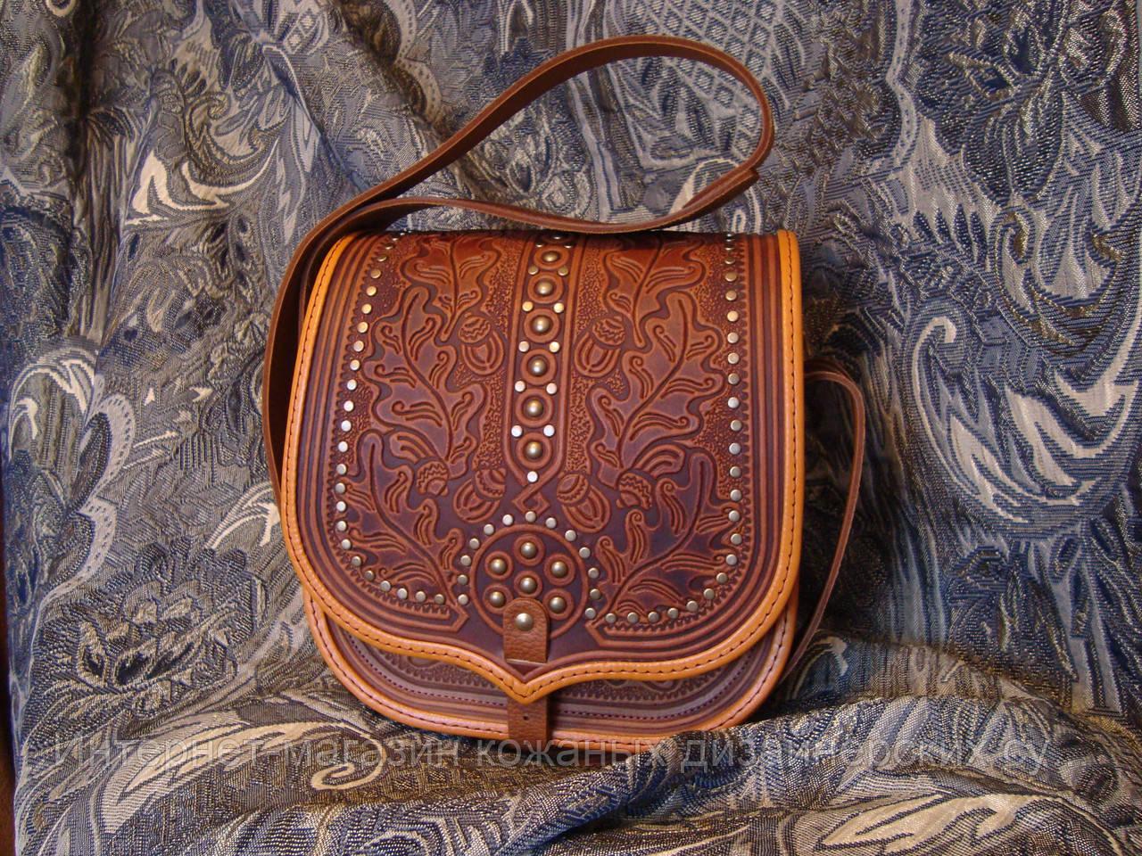 d3142f7fc1b0 Кожаная сумка ручной работы