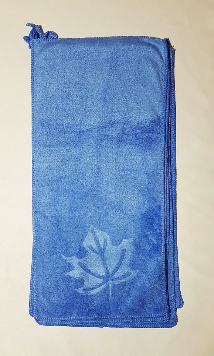 """Кухонное полотенце """"Листочек"""" микрофибра 24*48, цвет: голубой"""