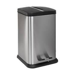 Квадратний кошик для сміття з нержавіючої сталі, об'єм 20 л