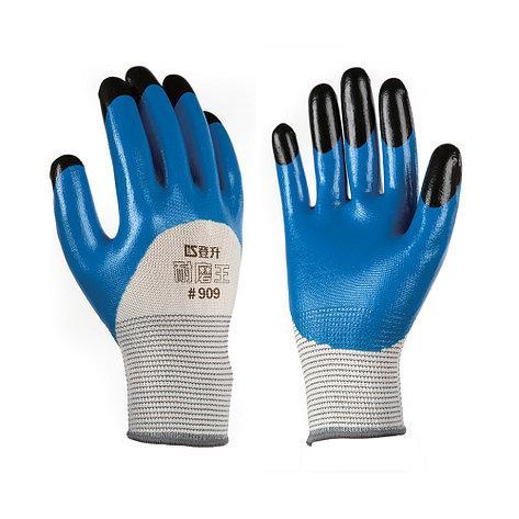 Перчатки рабочие стрейчевая покрытая двойным нитрилом