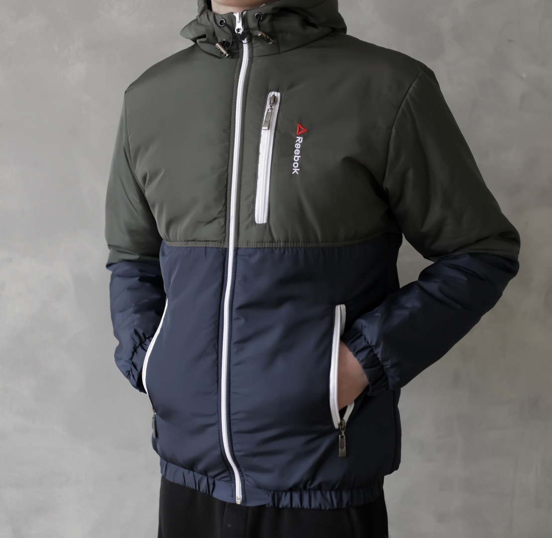 Мужская весенняя курточка Reebok (khaki/dark blue), мужская весенняя курточка Рибок