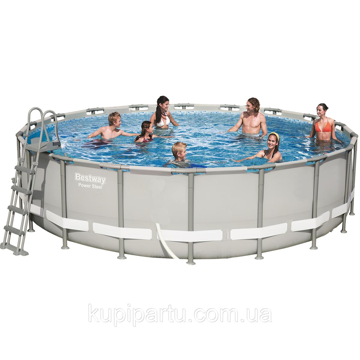 Каркансый басейн Bestway 56427 - 1, 549 x 132 см (сходи, тент, підстилка) Без помпи