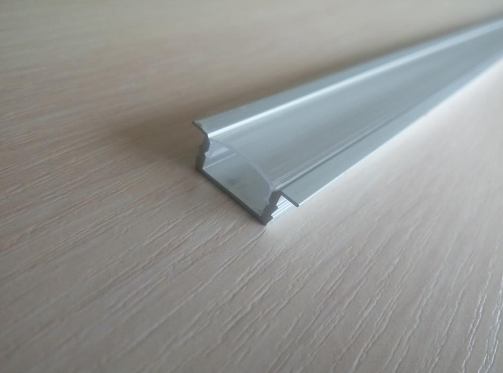 Врізний алюмінієвий профіль з прозорим розсіювачем 2м для LED стрічки