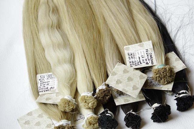 Натуральные славянские волосы +премиум для наращивания на капсулах