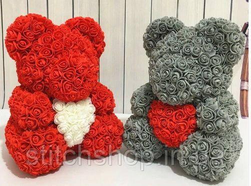 АКЦИЯ!!! Лучший подарок. Мишки из искусственных 3D Роз, Teddy de Luxe
