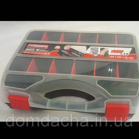 Кейс органайзер 325 х 260 х 25 мм пластиковый HAISSER Domino , фото 2