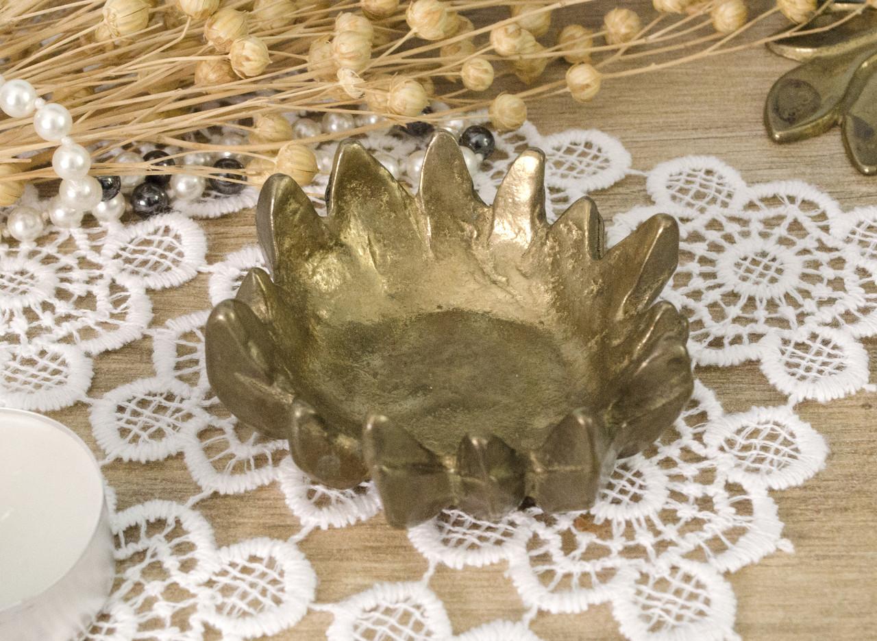 Старый бронзовый подсвечник под чайную или пеньковую свечу, бронза, Германия