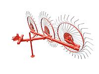 Грабли колесно-пальцевые «Солнышко» на 3 колеса для мототракторов
