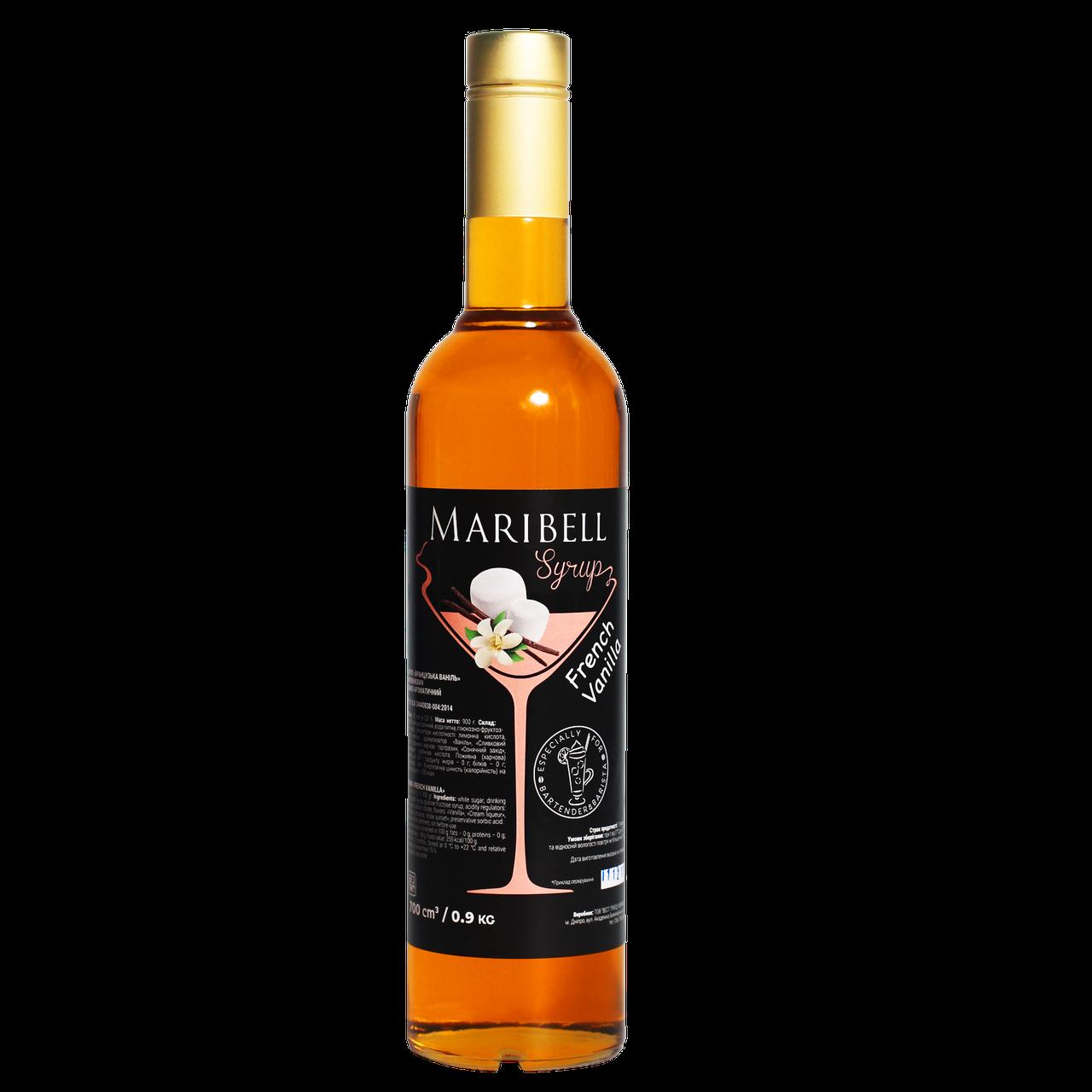 """Сироп коктейльный Maribell """"Французская ваниль"""" 700мл"""