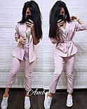 Женский стильный костюм в полоску: жакет и брюки (3 цвета), фото 5