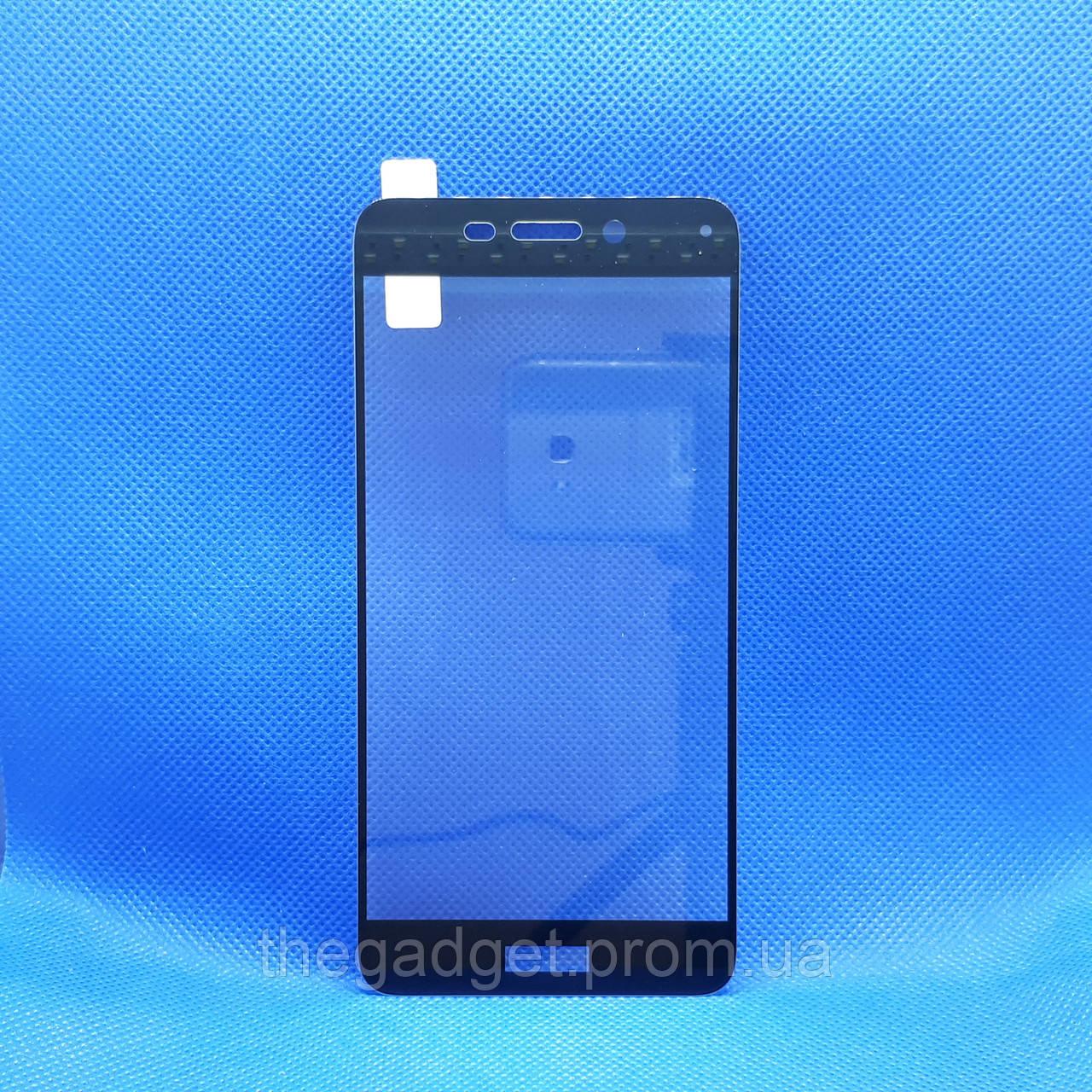 Защитное стекло для Huawei Honor 6c Pro (JMM-L22) Черное на весь экран
