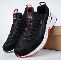 Мужские кроссовки Reebok Gtx Sawcut черные с красным. Живое фото. Реплика, фото 1