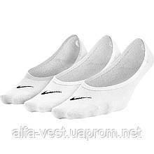 Носки женские Nike Lightweight No-Show (M 38-42) 3 пары SX4863-101 Белые (823233345805)