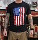 Футболка мужская  патриотическая  винтажная  Rothco Distressed US Flag Athletic Fit T-Shirt USA, фото 3
