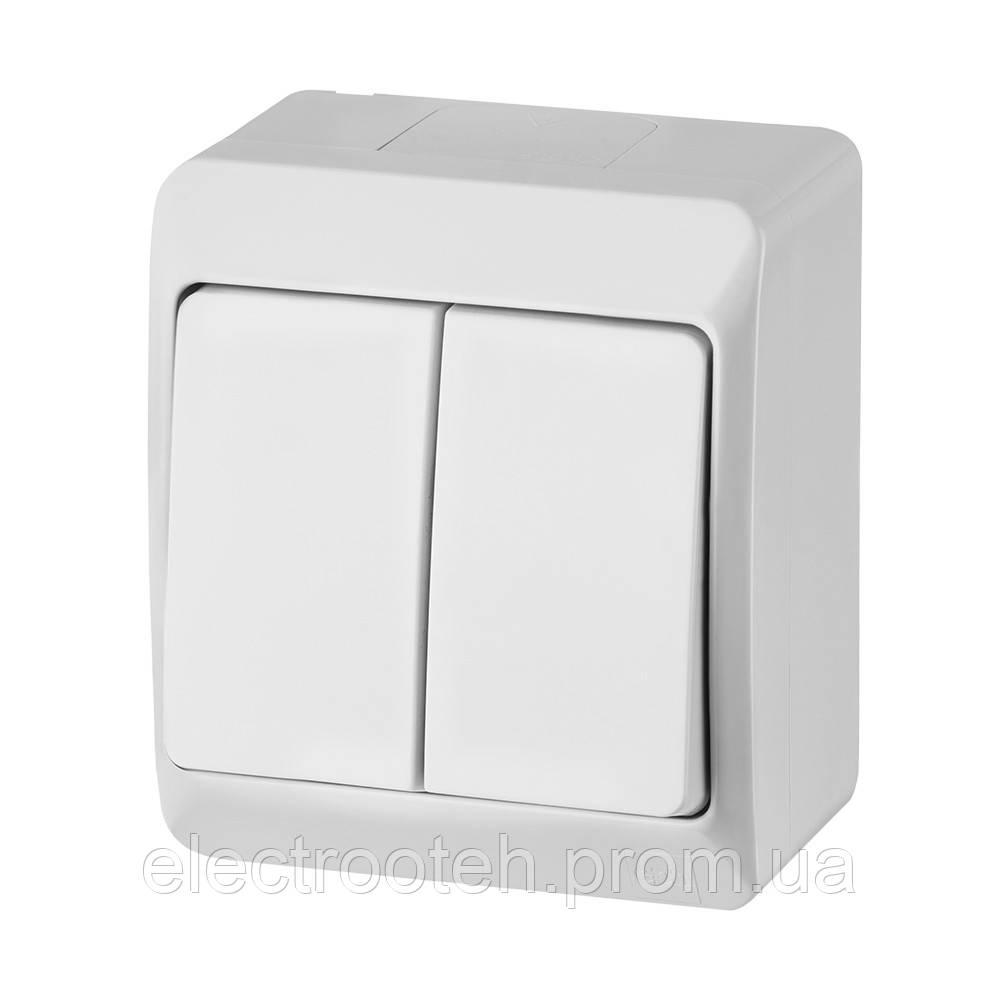 Наружный 2-клавишный выключатель HERMES