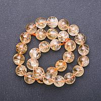 Бусины натуральный камень Цитрин нитка d-14мм L-38см (+-)