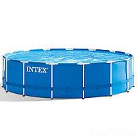 Каркасный бассейн Intex 28242 - 1, 457 x 122 см (тент, подстилка) Без помпы и лесници