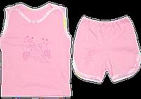 Детский летний костюмчик: маечка и шортики; тонкий хлопок, ТМ Алекс, р. 80-86, 92-98
