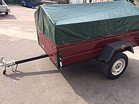 Прицеп одноосный бортовой для легкового автомобиля , фото 1
