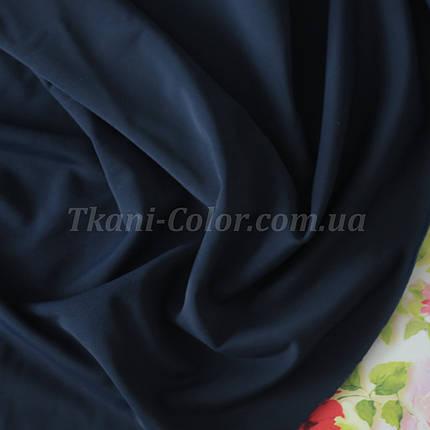 Трикотаж бифлекс (купальник) матовый темно-синий, фото 2