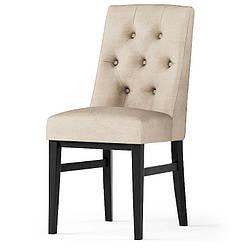 Дизайнерский, обеденный стул -Лидс. Ткань, цвет дерева -на выбор.