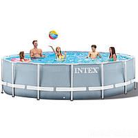 Каркасный бассейн Intex 26726 - 1, 457 x 122 см (тент, подстилка) Без помпы и лесници