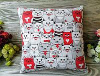 Подушка красные кошки , 35 см * 35 см