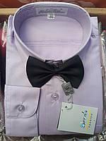 Детская сиреневая рубашка с бабочкой BENDU (размеры под заказ)