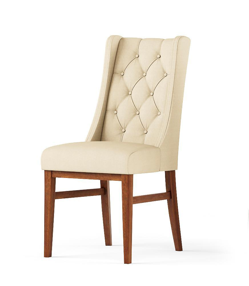 Дизайнерский, обеденный стул -Агнес. Ткань, цвет дерева -на выбор.