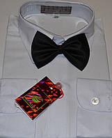 Детская белая рубашка с бабочкой BENDU (размеры 24,25,26,27,28,29,31)