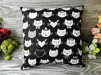 Подушка котики -мордочки , 35 см * 35 см
