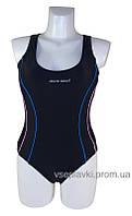 Cлитный подростковый купальник борцовка Atlantic beach 695001 черный