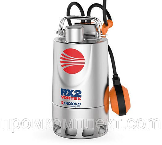 Погружной дренажный насос с корпусом из нержавеющей стали PEDROLLO RX-VORTEX RX 3/20
