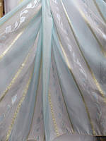 Тюль из полуорганзы в светло-голубой расцветке