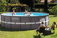 Каркасный бассейн Intex 26326 - 1, 488 x 122 см (лестница, тент, подстилка) Без помпы