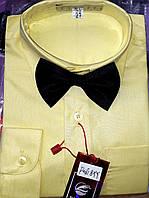 Детская лимонного цвета рубашка с бабочкой BENDU (размеры 25,26,27,28)