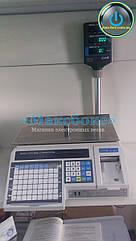 Весы с печатью этикеток (Cas LP-R 1 6) со стойкой