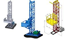Доставка строительных мачтовых подъёмников секционных. Подъёмники Строительные Мачтовые, фото 2