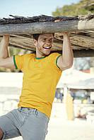 Мужская футболка с цветными манжетами 61-168-0