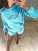 Женская флисовая пижама голубого цвета, фото 3