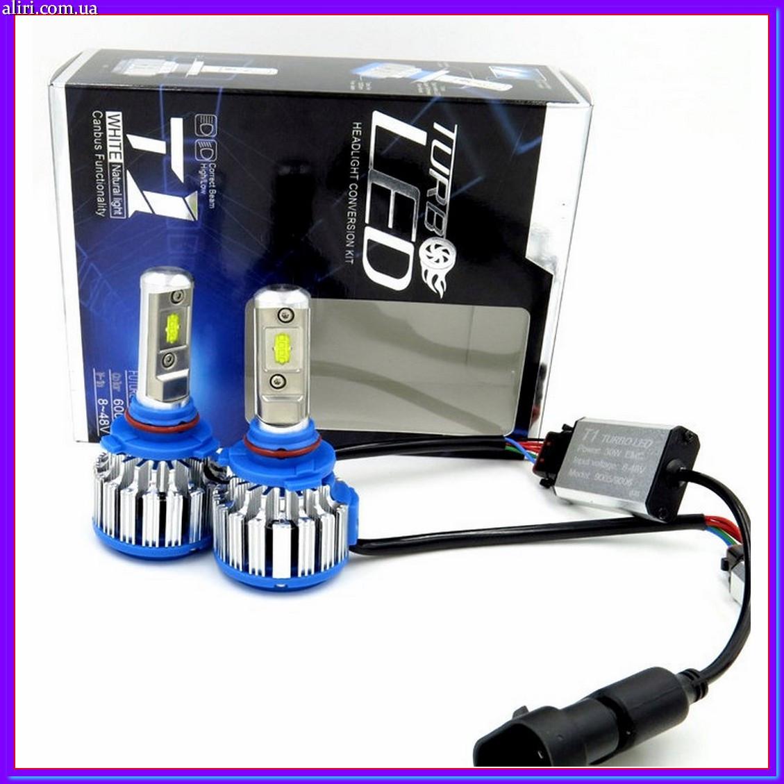 Led лампы для авто,Ксенон Xenon T1-H4 Turbo LED фары 6000К