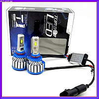 Led лампы для авто,Ксенон Xenon T1-H4 Turbo LED фары 6000К, фото 1